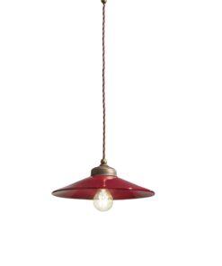 1-light suspension lamp, in Bordeaux ceramic