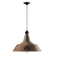 Ceramic 1-light suspension lamp
