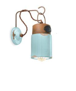 applique ceramica azzurra
