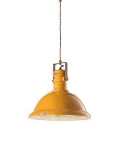 sospensione ceramica industrial gialla