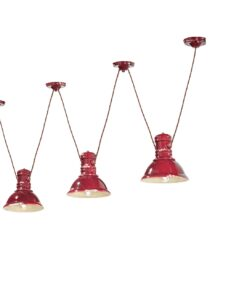industrial red ceramic suspension with  cables
