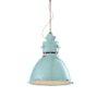 1-light suspension lamp, ceramic vintage light blue (VIA)