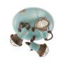 plafoniera ceramica azzurra