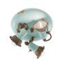 light blu ceramic ceiling lamp
