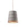 1-light suspension lamp made ceramic, cement effect